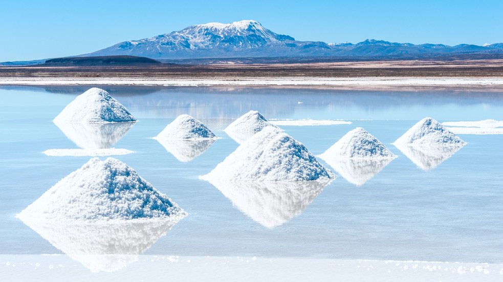 Salar de Uyuni a Bolívie